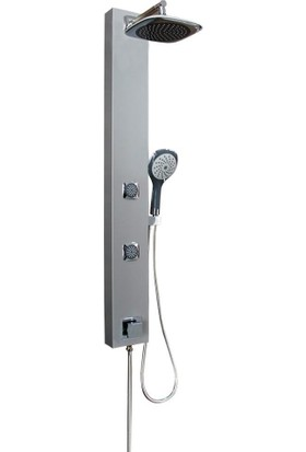 Elya Yasemin Masajlı Duş Sistemi ,duş Paneli Gri