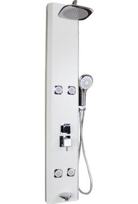 Elya Masajlı Duş Sistemi ,duş Paneli, Beyaz
