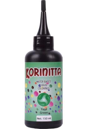 Korinitta Yenilebilir Su Bazlı Sıvı Gıda Boyası Yeşil 150 ml