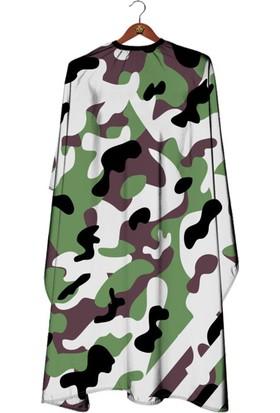 Kuatek Berber Önlüğü Penuar Camouflage Cape Berber Saç Kesim Önlüğü M-119