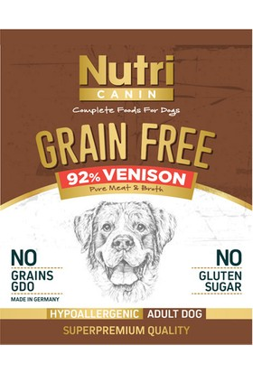 Nutri Canin Tahılsız Geyik Etli & Tatlı Patatesli Köpek Konservesi 400 gr x 6 Adet