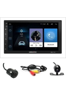 Megavox Android Navigasyonlu / USB / Bluetooth Çalar Double Din