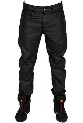 TECH90 Pirate Motorsiklet Kışlık Jean Siyah Kot Pantolonu