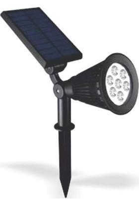 Taled 7 W Güneş Enerjili LED Aydınlatma Solar Kazıklı Çim Armatür Beyaz