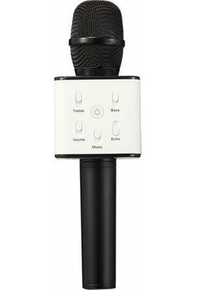 Torima Q7 Karaoke Mikrofon Bluetooth USB Destekli Siyah
