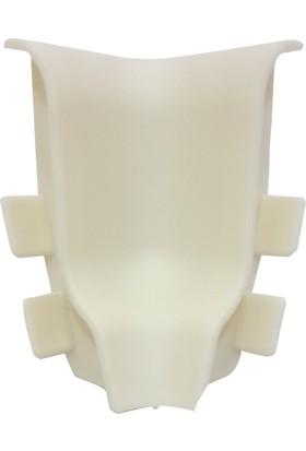 Deco Corner Laminant Parke Süpürgelik Köşe Bağlantı Elemanları Takım 6 cm Beyaz