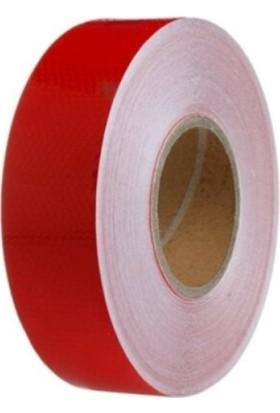 Cekasan 5 cm x 2.5 mt Petek Desen Kırmızı Fosfor Şerit