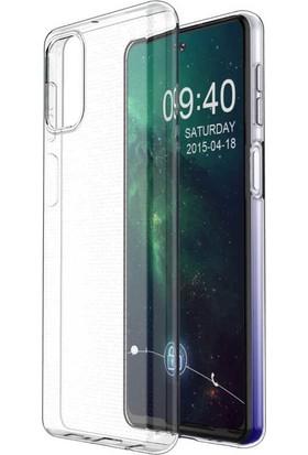 Tekno Grup Samsung Galaxy M31S Kılıf Lüx Silikon Kılıf + Cam Ekran Koruyucu Şeffaf