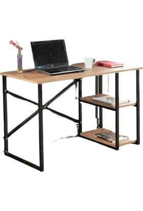 Noowa 2 Raflı Çalışma Masası-Ceviz