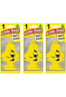 Car Freshner Little Trees Very Vanilla(Yüksek Vanilya Esanslı )Oto Kokusu 3 Adet