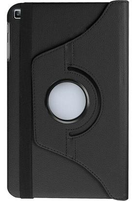 """Fibaks Samsung Galaxy Tab A7 SM-T500 2020 10.4"""" Kılıf + Kalem Uyku Modlu 360 Derece Dönebilen Standlı Tablet Kılıfı Siyah"""