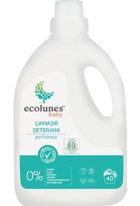 Friendly Organic Ecolunes Baby Hipoalerjenik Parfümsüz Çamaşır Deterjanı 2000 ml 2'li ve Yumuşatıcı 1000 ml
