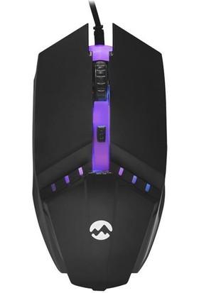Everest KM-G88 X-Drıfter Siyah USB Gökkuşağı Zemin Aydınlatmalı Gaming Oyuncu Klavye + Mouse Set