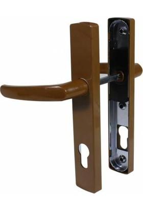 Pimapen Pvc Plastik Kapı Kolu Demirli Yale Kahverengi