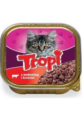 Tropi Kedi Konserve Delux Beef Pate 100 gr x 10 Adet