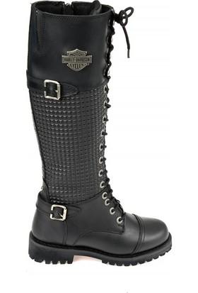 Harley Davidson Tiny Black Kadın Deri Çizme