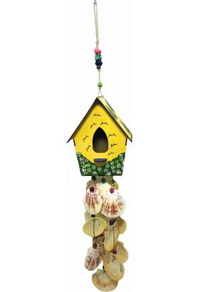 Gnd Duvar Balkon Kapı Süsü Ahşap El Yapımı Kuş Evi