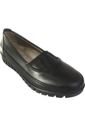 Punto BA651430 Siyah Deri Kadın Ayakkabı