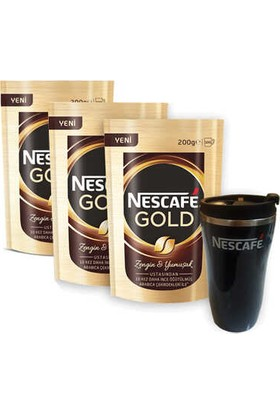 Nescafe Gold Eko Paket 200 gr x 3 Paket Thermo Mug