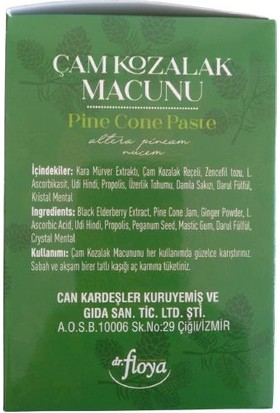 Dr.Floya Dr Floya Natural Doğal Çam Kozalak Macunu 300 ml Udi Hindi Pine Cone