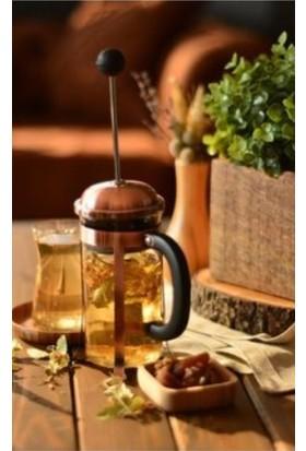 Yitian Çelik Cam Bitki Çayı Demleme French Press-Filtre Kahve Press