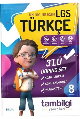 Tambilgi Yayınları 8. Sınıf 3'lü Türkçe Doping Set