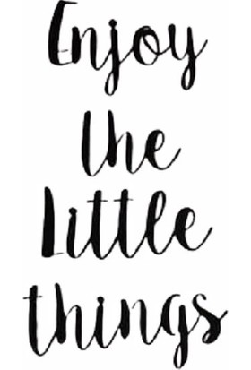 Oteberry Enjoy The Little Things Yazı Duvar Dekoru