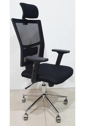 Herkese Mobilya Madrit Fileli Makam Koltuğu Ofis Sandalyesi Bilgisayar Sandalyesi Çalışma Sandalyesi Fileli Sandalye