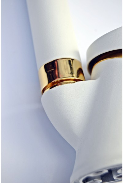 Guadro Beyaz Gold Lavabo Bataryası