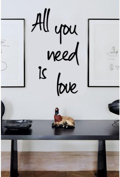 Birebir Gelsin Ahşap All You Need Is Love Duvar Dekoru