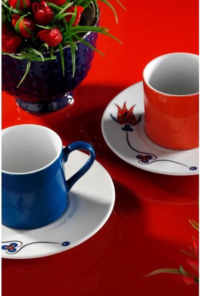 Kütahya Porselen Çintemani 9731 Desen Kahve Fincan Takımı