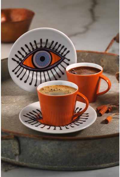 Kütahya Porselen Toledo Kahve Takımı