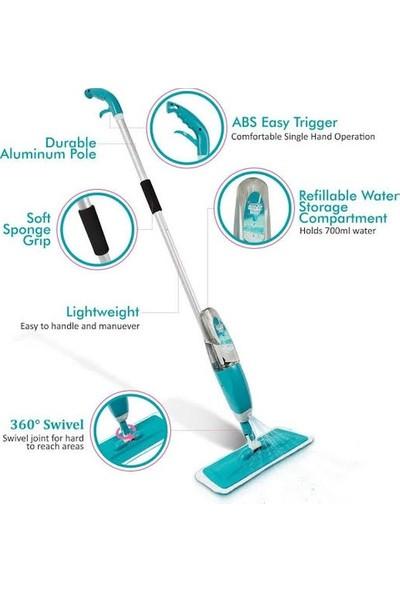 Spin Mop Sprey Mop Temizlik Seti Spray Mop 5 Microfiber Bezli