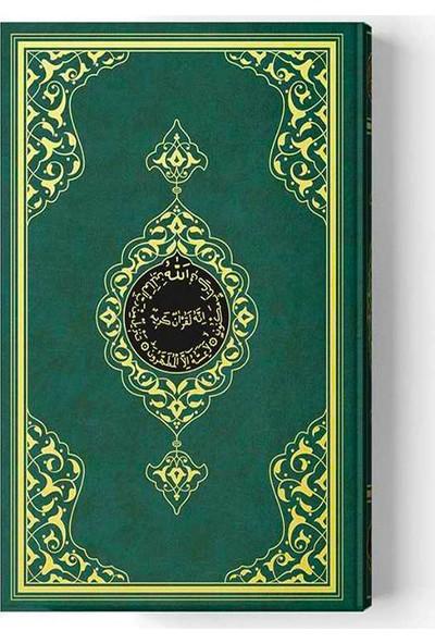 Hayrat 2 Renkli Yeşil Rahle Boy Kuran-I Kerim 19X28 cm