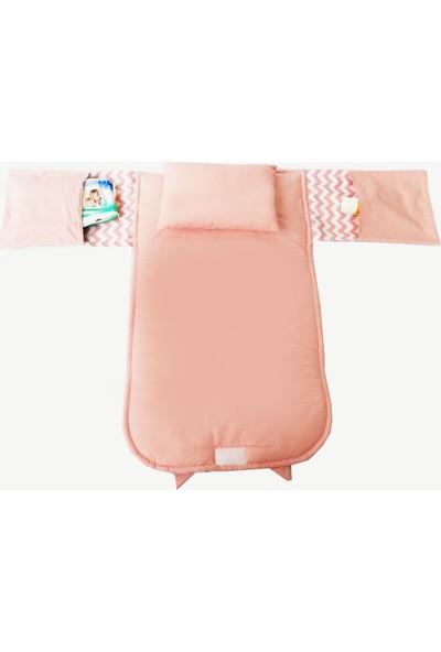 Amazingo Tasarım Pamuk Kumaş Taşınabilir Yastıklı Bebek Alt Açma