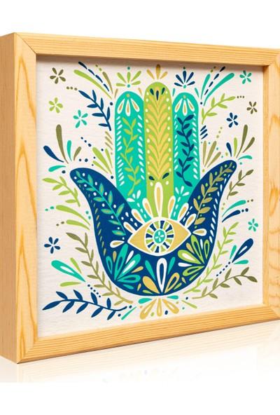 Arti2tr Ayna Saat Fatma Ana Eli Nazar Dekoratif Deri 3lü Set
