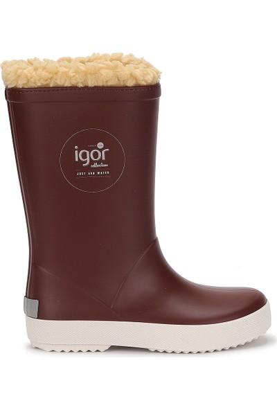 Igor W10207 Splash Nautico Erkek/kız Çocuk Su Geçirmez Yağmur Kar Çizmesi Bordo