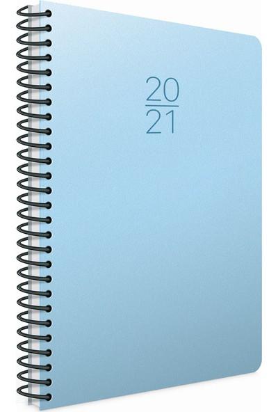 Gıpta 2021 Ekonomik Günlük Ajanda Spiralli 17 x 24 cm Açık Mavi