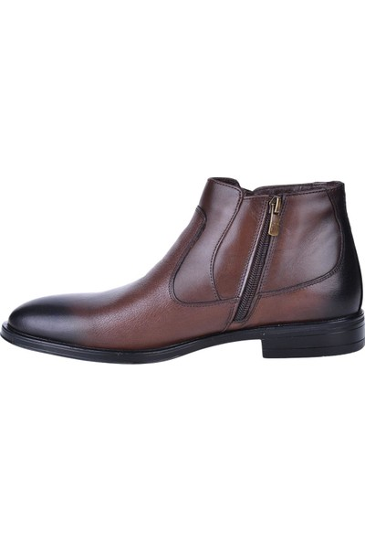 Pierre Cardin 1196063 Kahve Deri Erkek Klasik Bot Ayakkabı