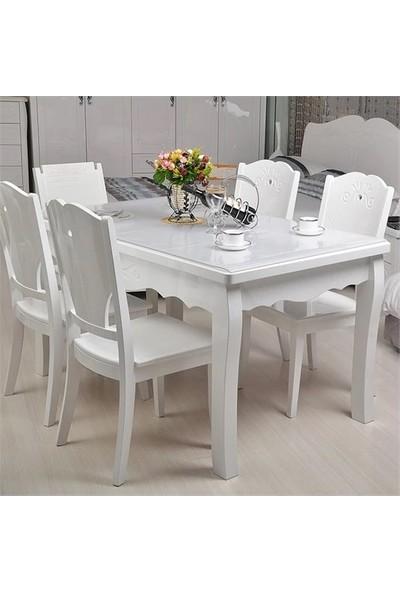 Salev Şeffaf Pvc Kalın Masa Örtüsü 1,7 Mm 80x140 cm