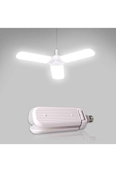 Real LED Pervane Katlanabilir LED Ampül Beyaz Işık