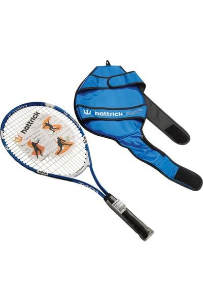 """Hattrick T101 19"""" Çocuk Tenis Raketi - Mavi"""
