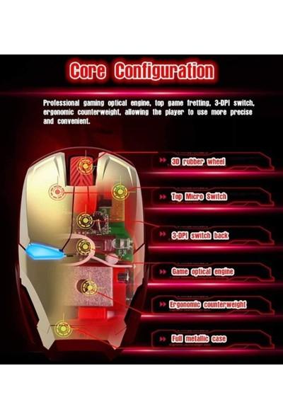 Nidiox Iron Man Mouse, USB Alıcılı 2.4g Gürültüsüz Kablosuz