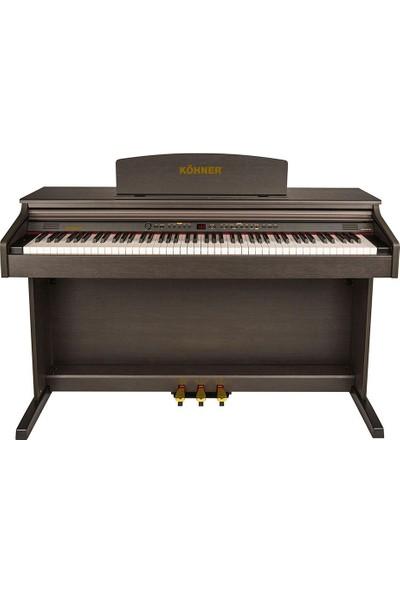 Köhner SLP-150-SR Dijital Konsol Piyano (Kahverengi)