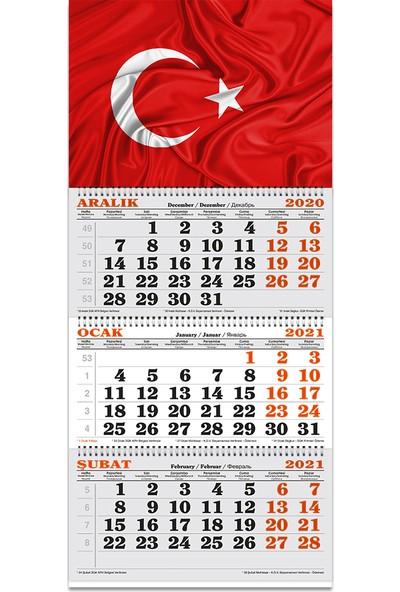 Keskin Color Spiralli 3 Aylık Denizci Takvim Bayrak 840421-99