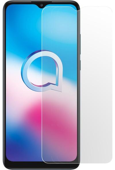 Herbütçeye Alcatel 1s 2020 Şeffaf Temperli Cam Maxi Glass Ekran Koruyucu