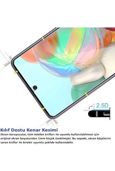 Herbütçeye Samsung Galaxy A71 Şeffaf Temperli Cam Maxi Glass Ekran Koruyucu