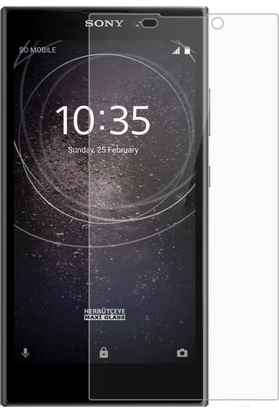 Herbütçeye Sony Xperia L2 Şeffaf Temperli Cam Maxi Glass Ekran Koruyucu