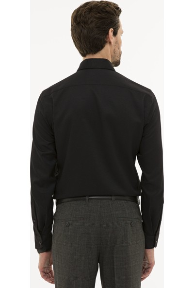 Pierre Cardin Siyah Slim Fit Gömlek 50233547-VR046