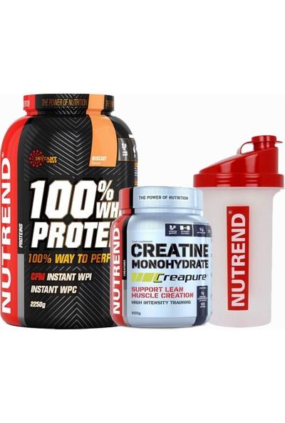 Nutrend Whey Protein 2250 Gr+ Nutrend Creatine 500 gr + Shaker